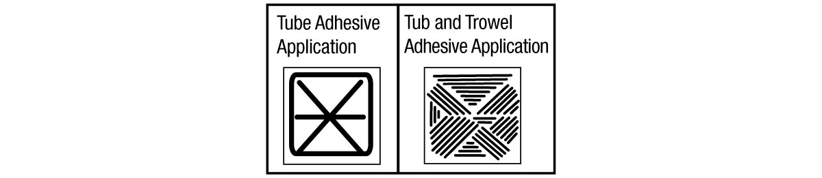 Adhesive Patterns