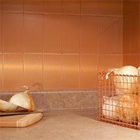 3x6 Metal in Brushed Copper Long Grain Glam 2