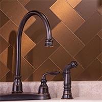 3x6 Metal in Brushed Bronze Long Grain Glam