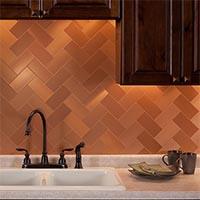 3x6 Metal in Brushed Copper Short Grain Glam