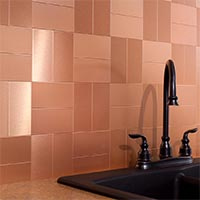 3x6 Metal in Brushed Copper Short Grain Glam 2