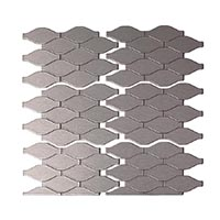 Matted Metal Tile Wavelength in Brushed Stainless