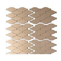 Matted Metal Tile Wavelength in Champagne