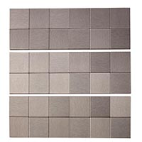 Matted Metal Tile Square in Brushed Stainless