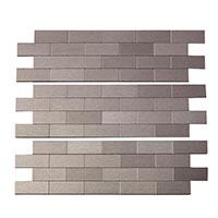 Matted Metal Tile Mini Subway
