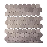 Matted Metal Tile Honeycomb in Brushed Stainless