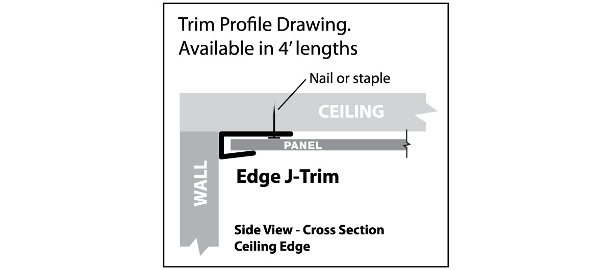 Trim profile drawing